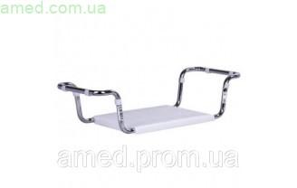 Сиденье для ванной пластиковое (ручки для фиксации регулируется по высоте: 65-70см)- ДхШ 37х28